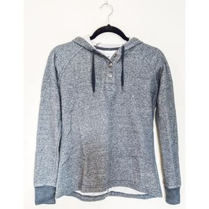 Columbia Navy Gray Button Collar Hoodie